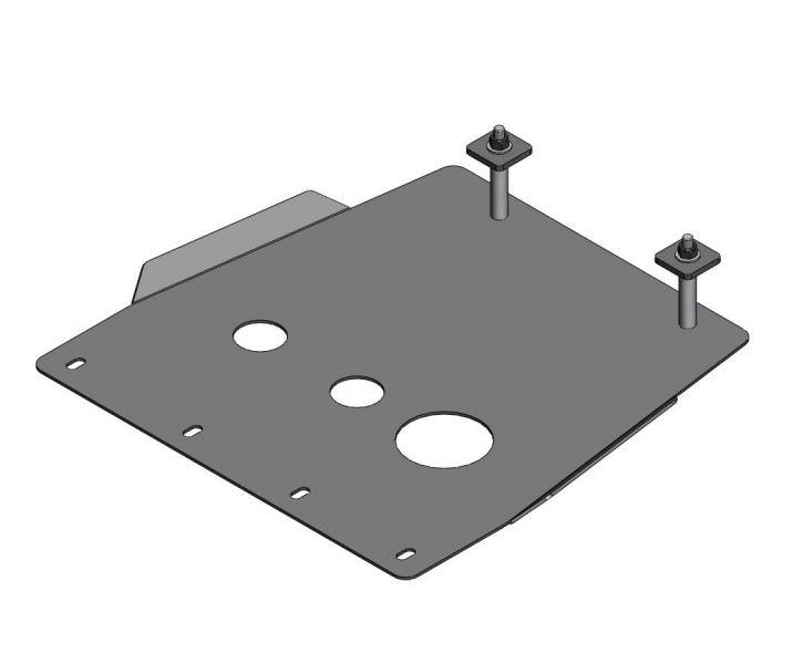 Protector caja cambios acero zincado 4mm Amarok