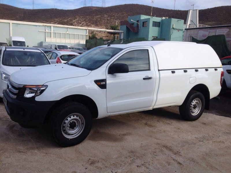 Hard Top Snake Ford Ranger Simple Cabina 2016 en adelante sin ventanas