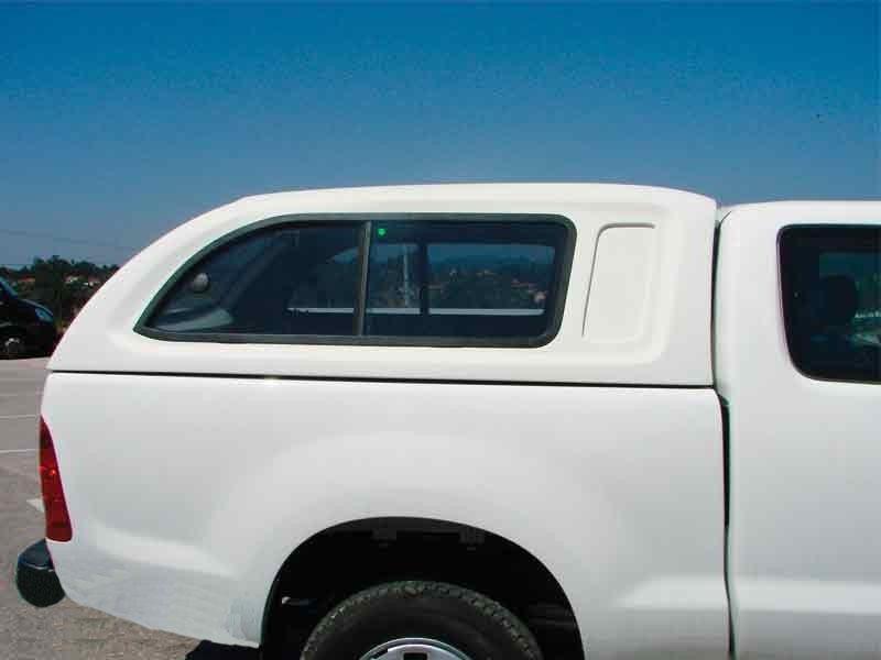 Hard Top Toyota Hilux Vigo Simple Cabina ventanas correderas (pintado)