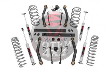 Kit de elevación Rough Country +4pulgadas (+10cm) Jeep Wrangler TJ (1997-2002)