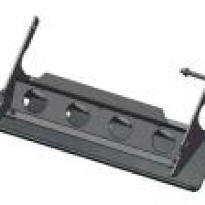 Protector barra dirección acero negro 4mm V2 Defender 110 (1983-)