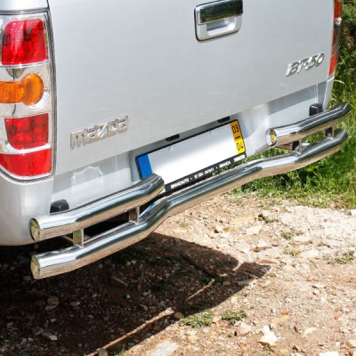 Parachoque trasero tubo inox Ø60mm Ford Ranger