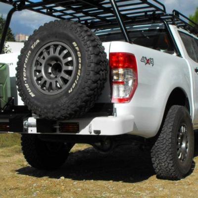 Parachoque trasero c/soporte rueda y bidon Ford Ranger