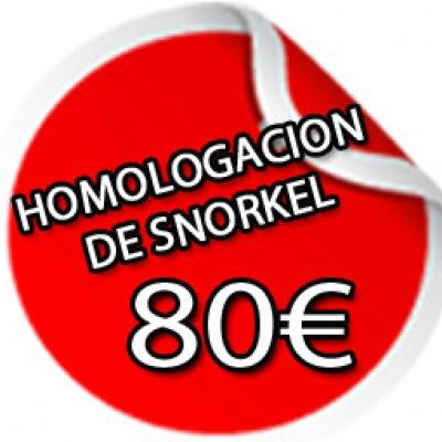 HOMOLOGACION DE SNORKEL POR 80€